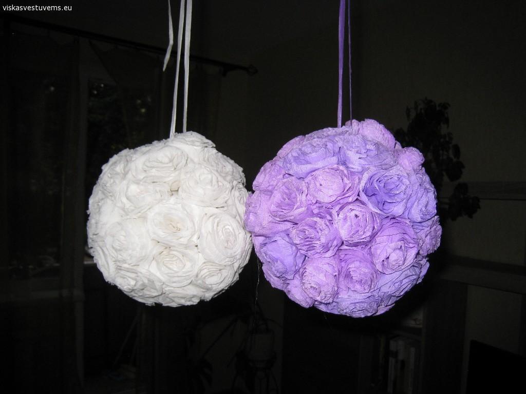 Dekoracijos - gėlių burbulai